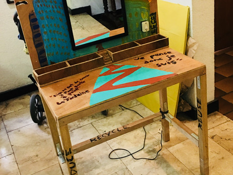 """Vanity Table """"Coiffeuse"""" Carpentry Project"""