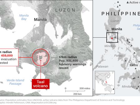 Taal Eruption - Jan 2020