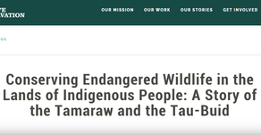 Stories relating to conservation efforts and working with the Indigenous People - July 20, 2020