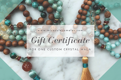 Gift Certificate for a Custom Crystal Mala