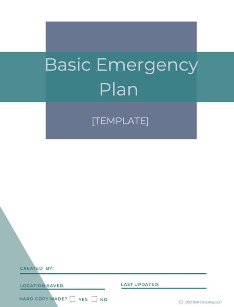 Basic Emergency Plan Template