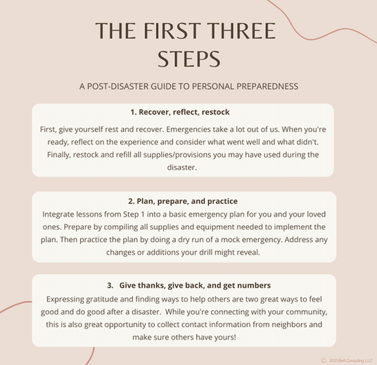 First Three Steps_Post-Disaster Planning