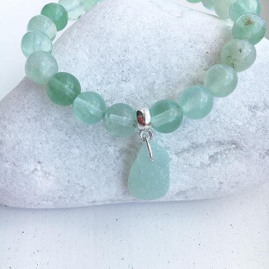 Fluorite beach bracelet (01)