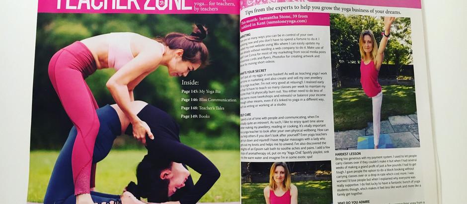 My first magazine interview!