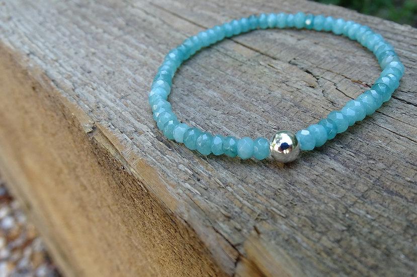 Sea bracelet (aqua agate)