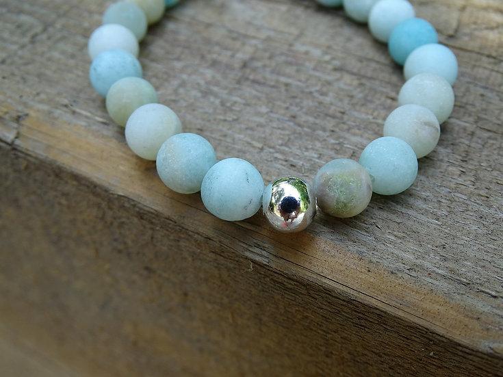 Amazonite Bracelet (frosted)
