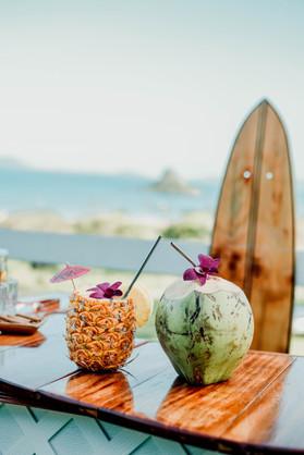 Pina-Coalda and Coconut welcoming drinks