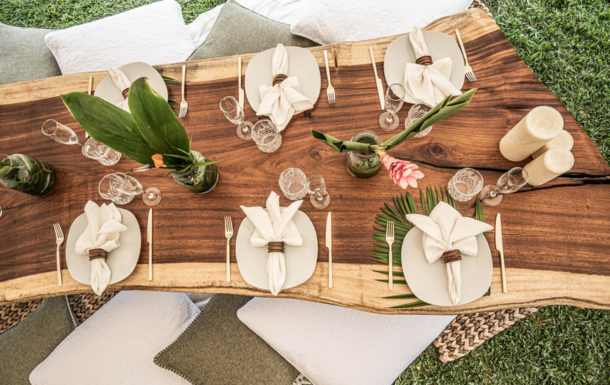 Tableware and Glassware for wedding
