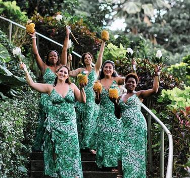Pina-Colada bridal party