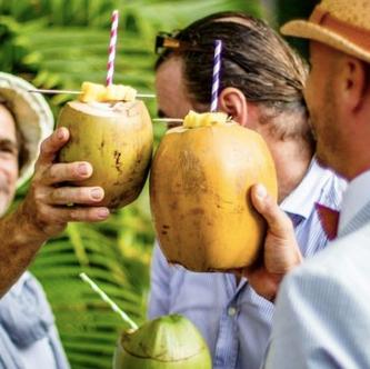 Fresh Coconut coctails