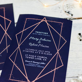 Save the date, invitations, menues