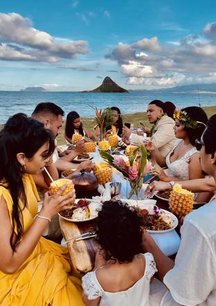 1979Hawaii dinner table