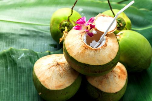 Coconut-water welcoming drinks