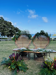Sweetheart table set up by 1979Hawaii