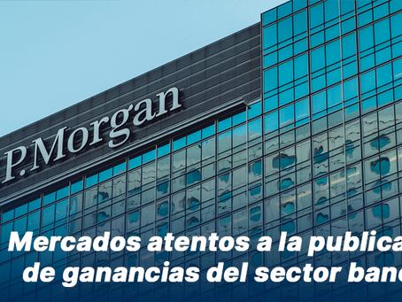 Mercados atentos a la publicación de ganancias del sector bancario