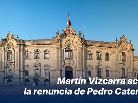 Martín Vizcarra aceptó la renuncia de Pedro Cateriano