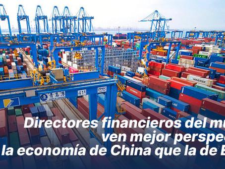 Directores financieros del mundo ven mejor perspectiva para la economía de China que la de EEUU