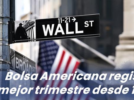 Bolsa americana registra su mejor trimestre desde 1998