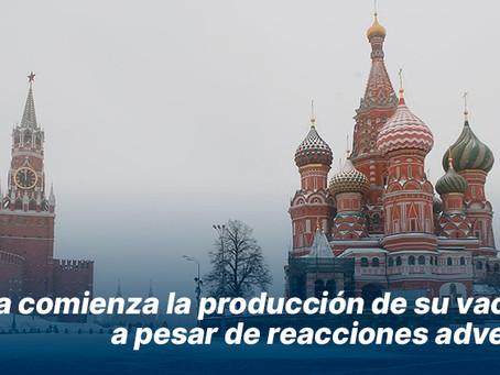 Rusia comienza la producción de su vacuna, a pesar de reacciones adversas