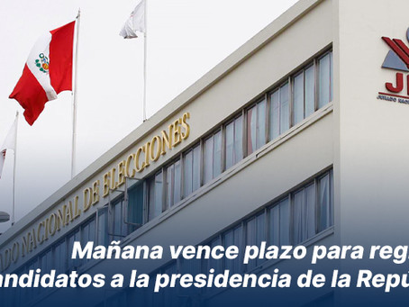 Mañana vence plazo para registrar precandidatos a la presidencia de la República