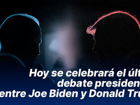 Hoy se celebrará el último debate presidencial entre Joe Biden y Donald Trump