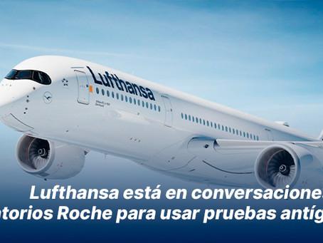 Lufthansa está en conversaciones con laboratorio Roche para usar pruebas antígenos