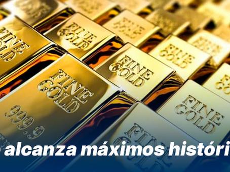 Oro alcanza máximos históricos