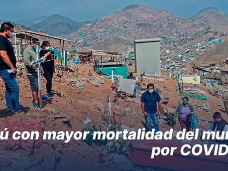 Perú con mayor mortalidad del mundo por COVID-19