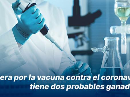 Carrera por la vacuna contra el coronavirus tiene dos probables ganadores