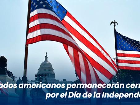 Mercados americanos permanecerán cerrados por el Día de la Independencia