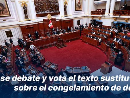 Hoy se debate y vota el texto sustitutorio sobre el congelamiento de deudas
