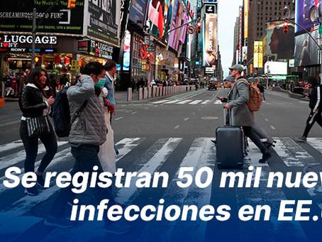 Se registran 50 mil nuevas infecciones en EE.UU.