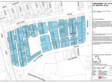 Proposed change in land use zoning of Lorongs 4-22 Geylang