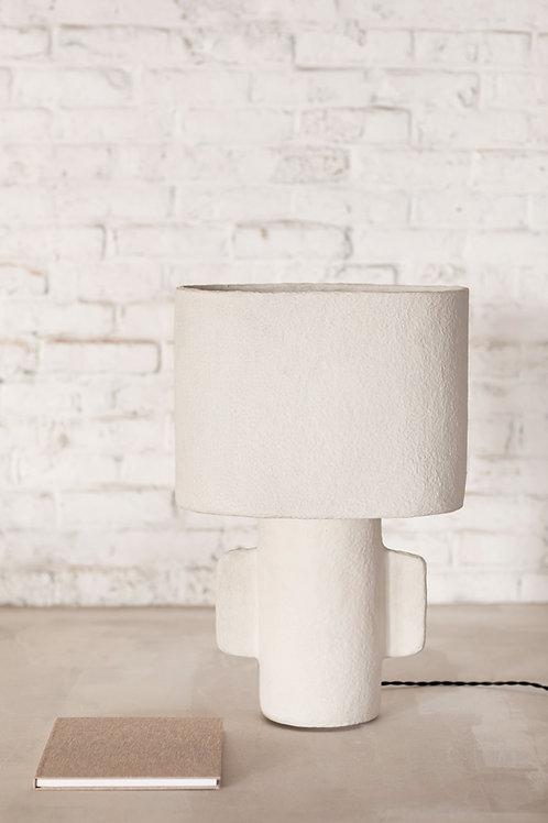Tafellamp papier maché ovaal