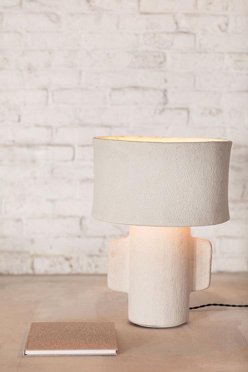 Tafellamp papier maché rond