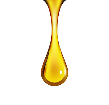 golden-oil-drop-isolated-on-white-vector