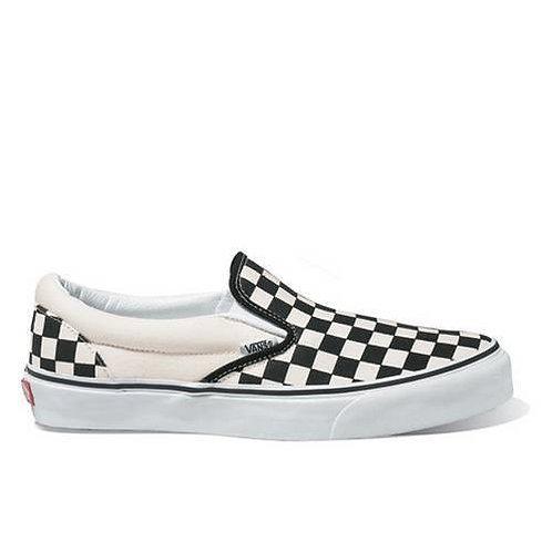 Vans Classic Slip On (Black & White Checkerboard/White)