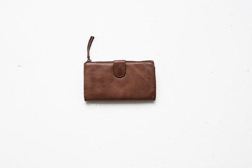 Juju and Co  - Large Capri Leather Wallet (Cognac)