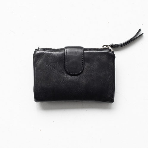 Juju and Co  - Small Capri Leather Wallet (Black)