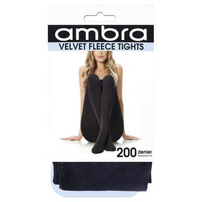 Ambra - Velvet FleeceTights (Navy)