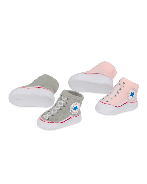 Converse - Boxed Infant Booties (Pink and Grey)