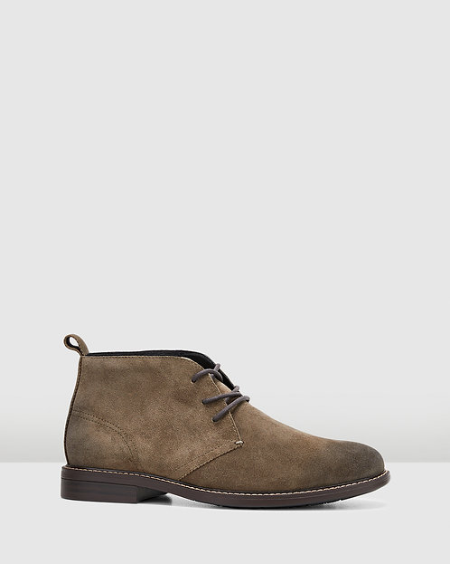 Hush Puppies - Harbour (Olive Suede)