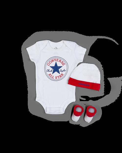 Converse - Boxed Converse 3 piece set newborn set (White)