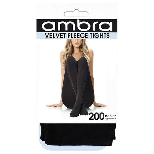 Ambra - Velvet FleeceTights (Black)