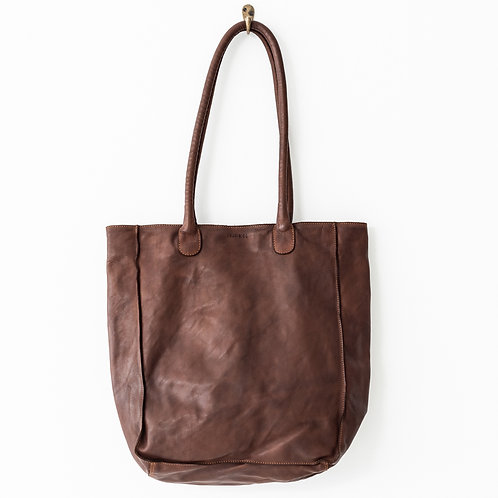 Juju and Co  - Boston Leather Tote (Cognac)