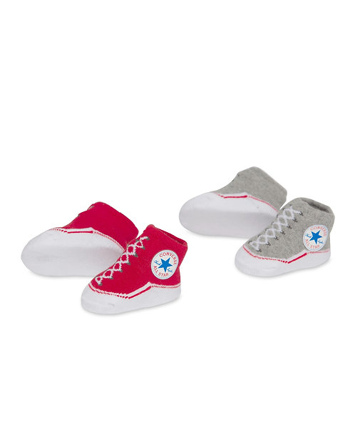 Converse - Boxed Infant Booties(Red, Grey)