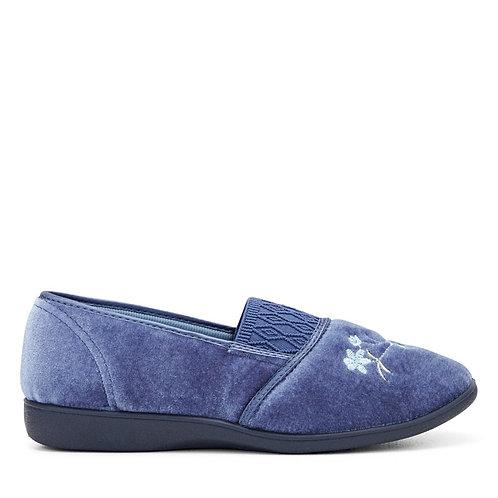 Grosby Slipper - Sasha (Mid Blue)
