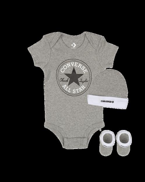 Converse - Boxed Converse 3 piece set newborn set (Grey)