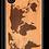 Thumbnail: Slim Wooden Phone Case (World Map Traveler in Mahogany)