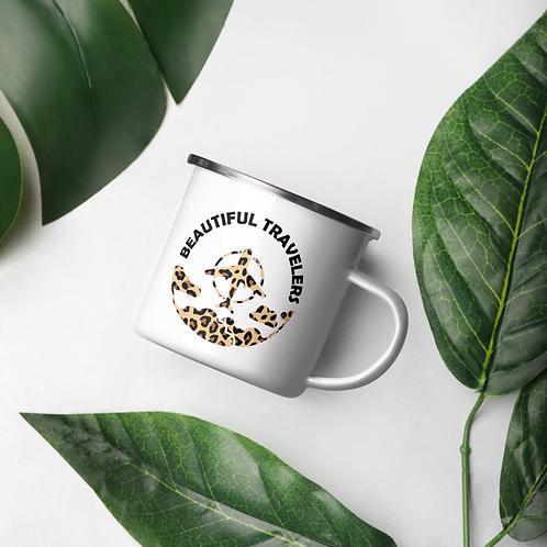 Cheetah Print Enamel Mug